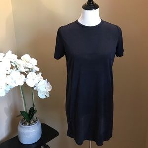 Brandy Melville Black Suede Tunic Top One Size